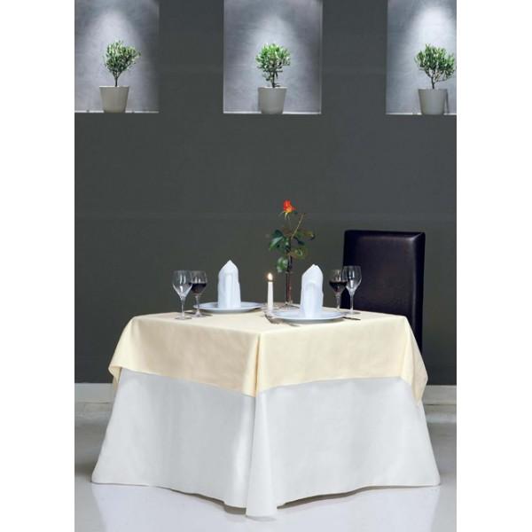 τραπεζομάντιλο Plain Λευκό Νο 1 | ναπερόν Φύλλο Εκρού Νο 2 | πετσέτες S. B. Λευκό Νο 1