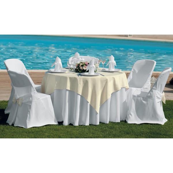 τραπεζομάντιλο Panama Λευκό Νο 1 | ναπερόν Frame Εκρού Νο 2 | πετσέτες S.B Λευκό Νο 1 | κάλυμμα καρέκλας Κωδ. 1400/1