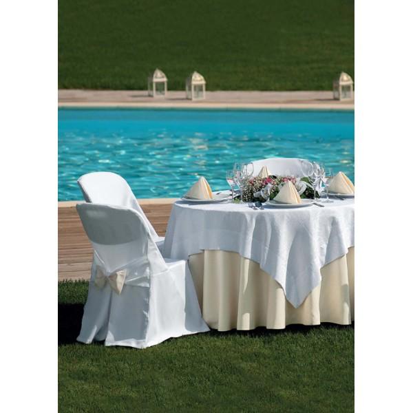 τραπεζομάντιλο Panama Εκρού Νο 2 | ναπερόν Rose Frame Λευκό Νο 1 | πετσέτες S. B. Eκρού Νο 2 | κάλυμμα καρέκλαςΚωδ. 1400/1