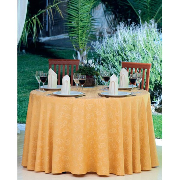τραπεζομάντιλο Ζακάρ Κίτρινο 2χρωμο Νο 12  πετσέτες S.B. Εκρού Νο 2